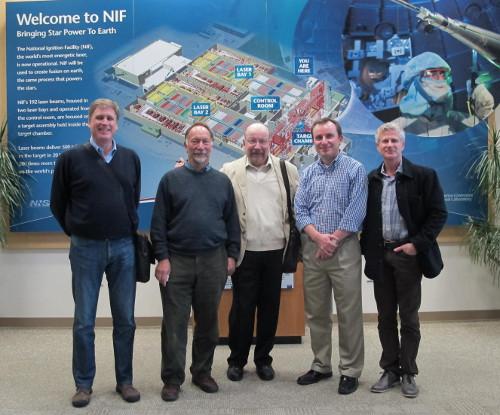 (L-R) Tom Eddington, Peter Russell, myself, Mike Dunne, Marc Meyer